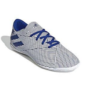 Chuteira Futsal Adidas Nemeziz 19.4 Branco/Azul