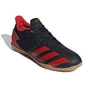 Chuteira Futsal Adidas Predator 20.4 Preto/Vermelho