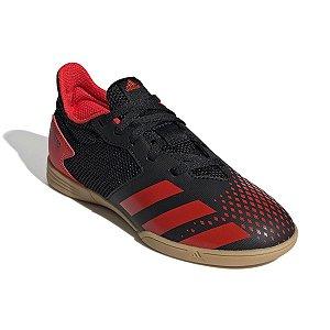 Chuteira Futsal Adidas Predator 20.4 Preto Infantil