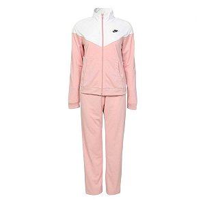 Agasalho Nike Nsw Trk Suit Pk Rosa/Branco Feminino