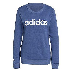 Blusão Adidas Logo Linear Azul Feminino