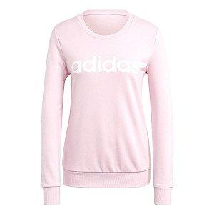 Blusão Adidas Essential Linear Rosa Claro Feminino