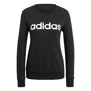 Blusão Adidas Logo Linear Preto Feminino