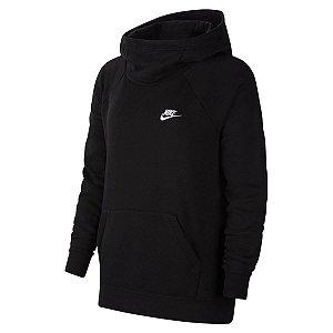 Moletom Nike Nsw Essential Fnl Po Preto Feminino