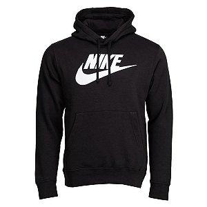 Moletom Nike Nsw Club Hoodie Po Logo Preto Masculino