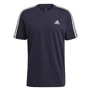Camiseta Adidas Essentials 3s Azul Marinho Masculino