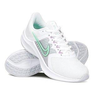 Tenis Nike Downshifter 11 Branco/Verde Feminino