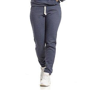 Calça Moletom Vlcs Dolce Basic 13 Azul Marinho Feminino