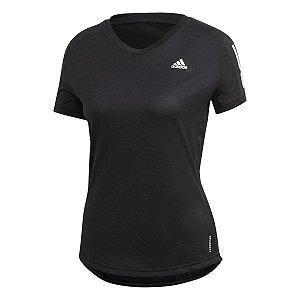 Camiseta Adidas Own The Run Cool Preto Feminino