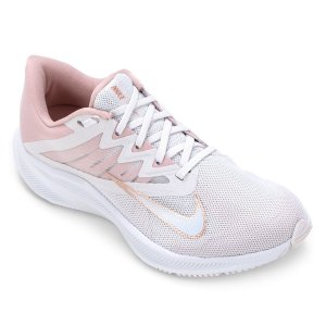 Tenis Nike Quest 3 Branco/Rosa Feminino