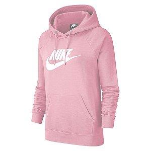 Moletom Nike Nsw Essential Hoodie Rosa Feminino