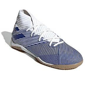 Chuteira Futsal Adidas Nemeziz 19.3 Branco/Azul Masculino