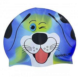 Touca Natação Speedo Dog Cap Azul