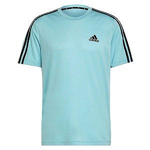Camiseta Adidas D2m 3s Azul Masculino