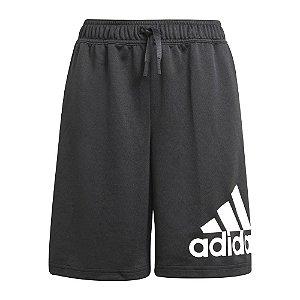 Shorts Adidas Logo Preto Infantil