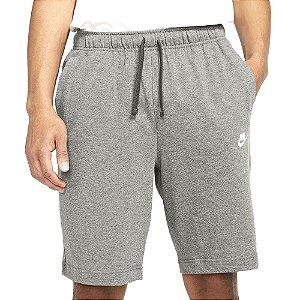 Shorts Nike Nsw Club Jsy Cinza Claro Masculino