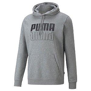 Moletom Puma Com Capuz Power Cinza Claro Masculino