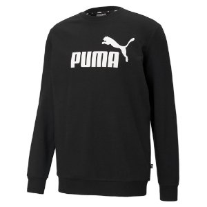 Moletom Puma Big Logo Crew Tr Preto Masculino