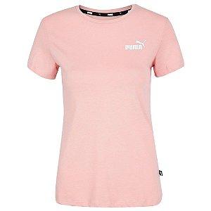 Camiseta Puma Ess Small Logo Rosa Feminino