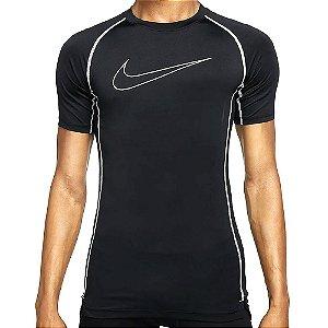 Camiseta Nike Pro Dryfit Tight Top Ss Preto Masculino