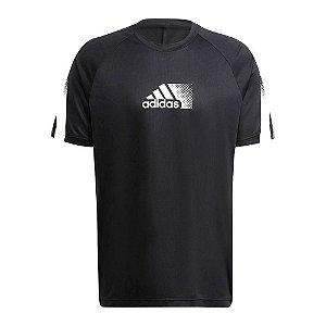 Camiseta Adidas D2m Seasonal Preto Masculino