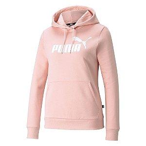 Moletom Puma Logo Rosa Claro Feminino