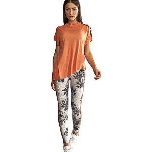 Camiseta Colcci Comfort Laranja Feminino