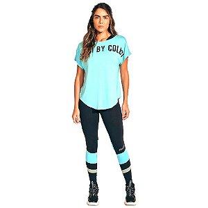 Camiseta Colcci New Comfort Fit Azul Claro Feminino