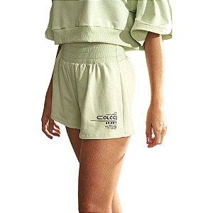 Shorts Colcci Moletinho Verde Ceramic Feminino