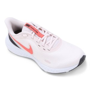 Tenis Nike Revolution 5 Rosa Claro/Coral Feminino