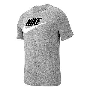 Camiseta Nike Nsw Icon Futura Cinza Masculino