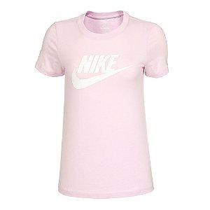 Camiseta Nike Essential Icon Ftra Rosa Feminino