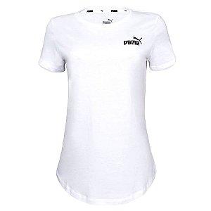 Camiseta Puma Ess Small Logo Branco Feminino