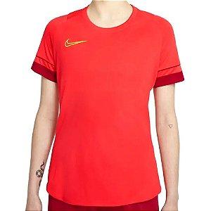 Camiseta Nike Dry Academy21 Top SS Laranja Feminino
