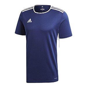 Camiseta Adidas Entrada 18 Azul Marinho Masculino