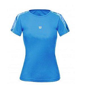 Camiseta Wilson Tour SS Azul Celeste