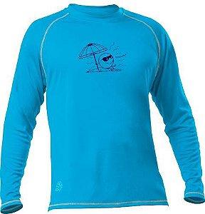 Camiseta Poker Infantil Fator De Proteção UV50+ Azul