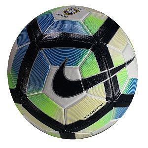Bola Campo Nike Strike CBF Branco Preto Azul b0de6ece5a1f6