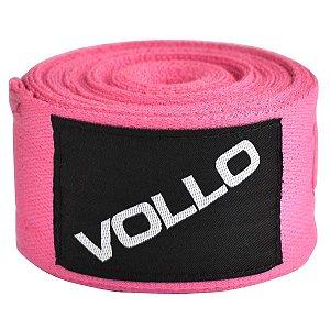 Bandagem Elástica Vollo 3m Rosa