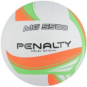 Bola de Volei Penalty MG 5500 VII Branco/Laranja/Verde
