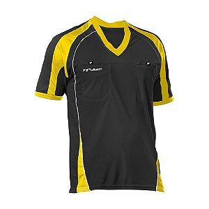 Camisa de Arbitro Poker Oficial IV Preto/Amarelo