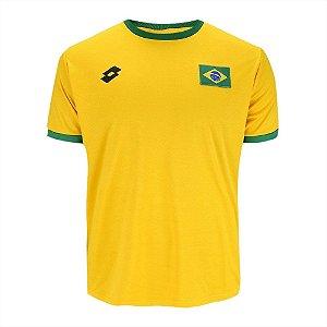 Camisa Lotto Flag Brasil Amarela 9577f5217fb5a