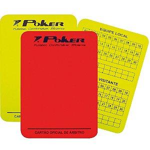 Cartão de Arbitro de Campo Poker Oficial Kit 2 Peças