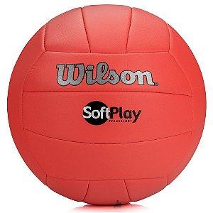 Bola de Volei Wilson Soft Play Vermelho