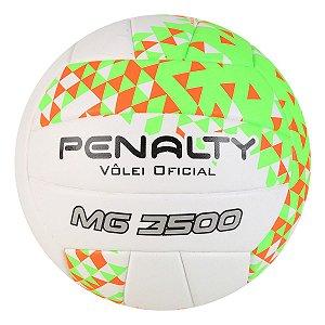 Bola de Volei Penalty MG 3500 VIII Branco/Laranja/Verde