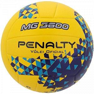Bola de Volei Penalty MG 3600 Fusion VIII Amarelo/Azul/Roxo