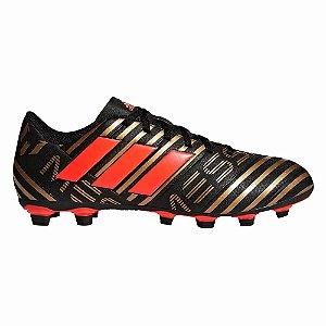 4a72d400d3624 Chuteira Campo Adidas Nemeziz Messi 17.4 Marrom/Vermelho