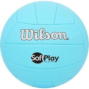 Bola De Volei Wilson Soft Play Azul