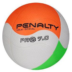 Bola De Volei Penalty 7.0 Pro Ix Branco-Laranja-Verde