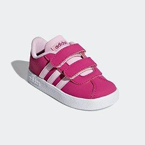 Tenis Adidas Vl Court 20 Cmf I Rosa